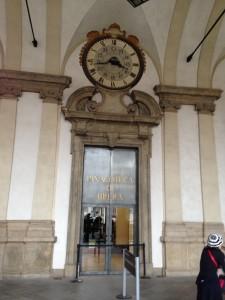 Indgangen til Pinacoteca di Brera.